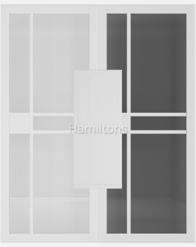 Deanta White Dalston Solid Panel And Glazed Doors