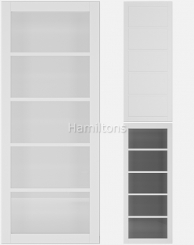 Deanta White Shoreditch Solid Panel And Glazed Doors