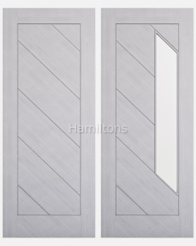 Deanta Torino Light Grey Ash Solid Panel and Glazed Doors
