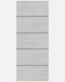 Deanta Commercial Flush Light Grey Ash Horizontal Inlay Doors