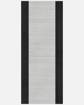 Deanta Commercial Flush Doors Light Grey Ash Dark Grey Edges