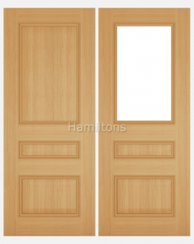 Deanta Oak Windsor Solid Panel And Glazed Doors