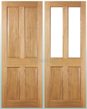 Deanta Oak Bury Solid Panel And Glazed Doors
