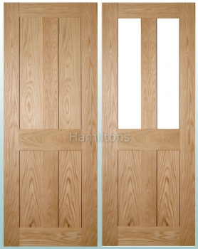 Deanta Oak Eton Solid Panel And Glazed Doors