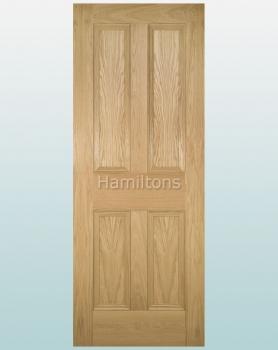 Deanta Oak Kingston Solid Panel Doors