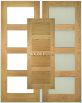 Deanta Oak Coventry Solid Panel And Glazed Doors