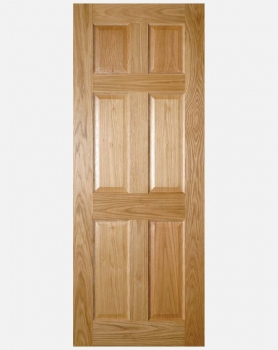 Deanta Oak Oxford Solid Panel Doors