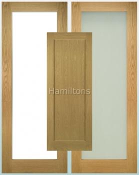 Deanta Oak Walden Solid Panel And Glazed Doors