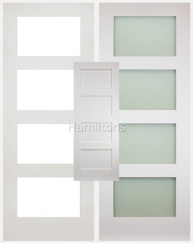 Deanta Coventry White Solid Panel And Glazed Doors