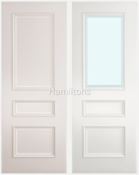 Deanta Windsor White Solid Panel And Glazed Doors