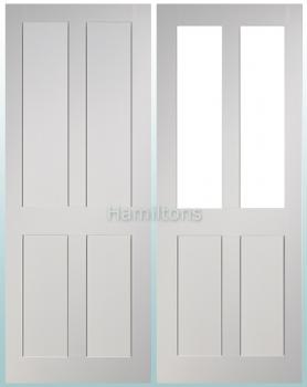 Deanta Eton White Solid Panel And Glazed Doors