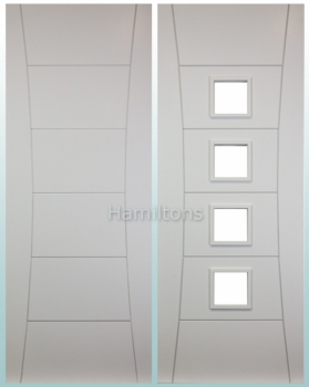Deanta Pamplona White Solid Panel And Glazed Doors