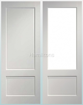 Deanta Madison White Solid Panel And Glazed Doors