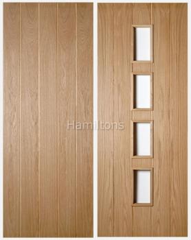 Deanta Oak Galway Solid Panel Doors And Glazed Doors