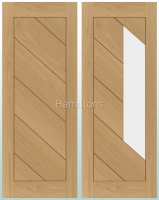 Deanta Oak Torino Solid Panel and Glazed Doors