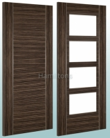 Deanta Calgary Abachi Solid Panel And Glazed Doors