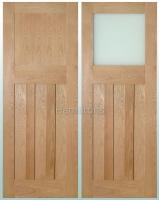 Deanta Oak Cambridge Solid Panel Doors And Glazed Doors