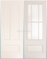 Deanta White Canterbury Solid Panel And Bevelled Glass Doors
