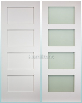Deanta White Coventry Solid Panel And Glazed Doors