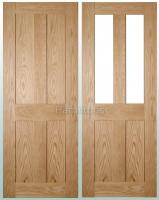 Deanta Oak Eton Solid Panel Doors And Glazed Doors