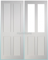 Deanta White Eton Solid Panel Doors And Glazed Doors