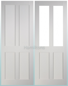 Deanta White Eton Solid Panel And Glazed Doors