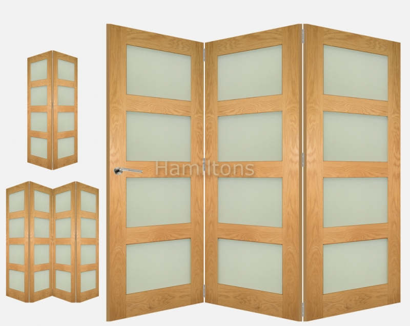 Deanta Oak Coventry 2 3 and 4 Folding Doors Obscure Glass  sc 1 st  Hamiltons doorsandfloors : doors coventry - pezcame.com