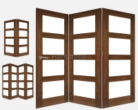 Deanta Walnut Coventry 2, 3 and 4 Folding Doors Clear Glass
