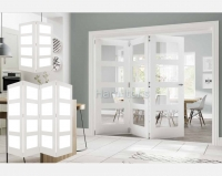 Deanta White Coventry 2, 3 and 4 Folding Doors Obscure Glass