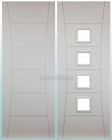 Deanta White Pamplona Solid Panel Doors And Glazed Doors