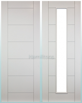 Deanta White Seville Standard Doors and FD30 Fire Doors