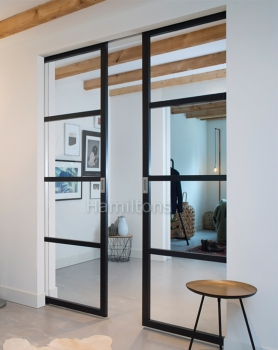 Slim Frame 50 Industrial 4L Single-Double Pocket Doors Any Size Colour