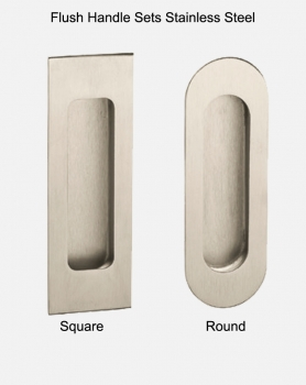 Woodland Slimline Round or Square Flush Stainless Steel Handles
