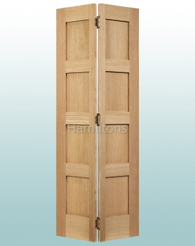 LPD Oak Contemporary Single Bi-folding Doors For 686-762mm Openings