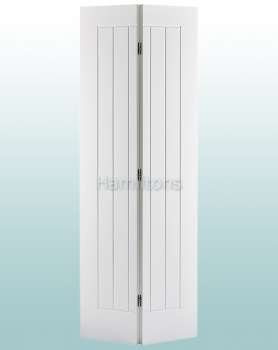 LPD White Mexicano Bi-folding Doors For 686 and 762mm Openings