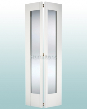 LPD White Shaker Glazed Bi-folding Doors For 686 and 762mm Openings
