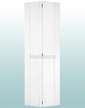 LPD White Shaker Bi-fold Doors For 686 and 762mm Openings