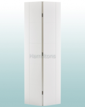 LPD White Vancouver Single Bifold Doors For 686 and 762mm Openings