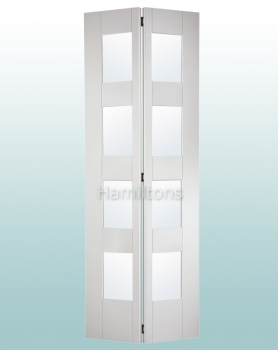 LPD White Shaker 4 Light Bifold Doors For 686 and 762mm Openings