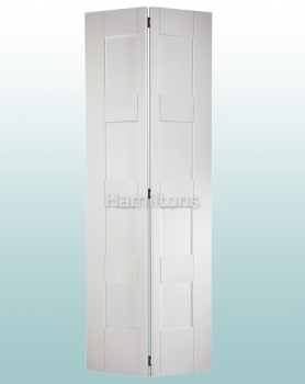 LPD White Shaker 4 Panel Bi-folding Doors For 686 and 762mm Openings