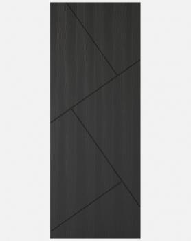 LPD Charcoal Grey Embossed Dover Solid Panel Doors