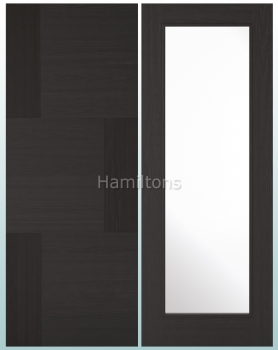 LPD Seis And Panel Diez P10 Glazed Charcoal Black Doors