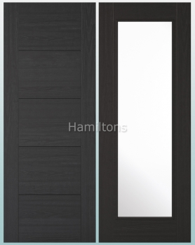 LPD Vancouver Charcoal Black Solid Panel And Glazed Doors