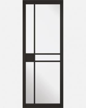 LPD Black Greenwich Industrial Style Clear Glazed Doors