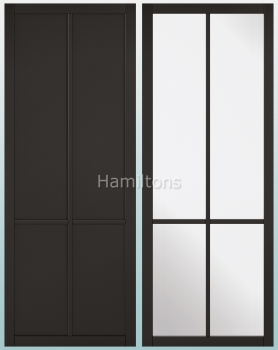 LPD Industrial Style Black Liberty Solid Panel And Glazed Doors