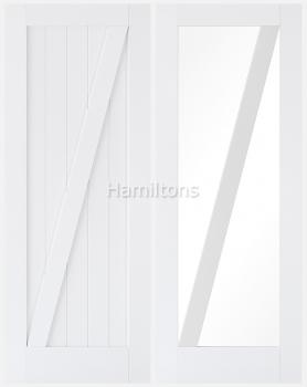 LPD Premium White Barn Solid Panel And Glazed Doors