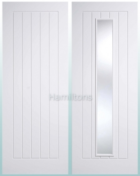 LPD Premium White Mexicano Solid Panel Doors and Glazed Doors