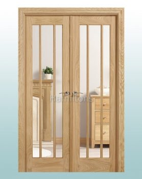 LPD Lincoln Oak W4 French Door Pairs With Frame