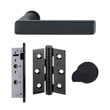 LPD Charlton Manhattan Slimline Handles Latch And 3 Hinge Packs | Privacy Latch