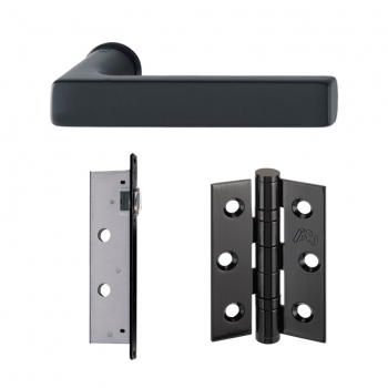 LPD Charlton Slimline Handles Latch And 3 Hinge Packs | Privacy Latch
